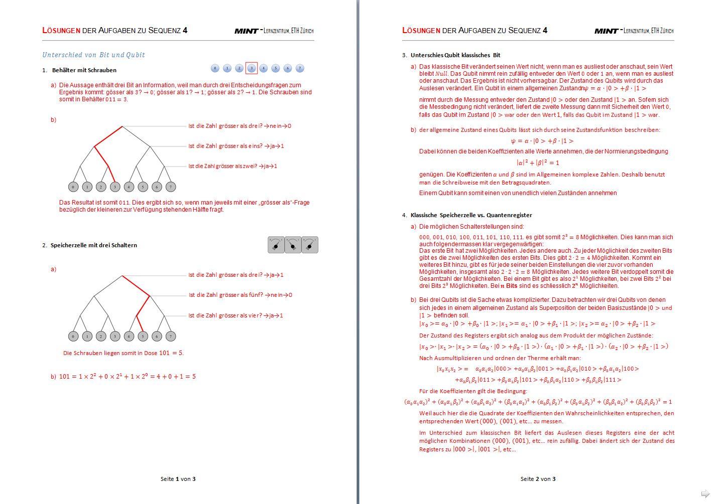 Vom Doppelspalt zum Quantencomputer – EducETH - ETH-Kompetenzzentrum ...